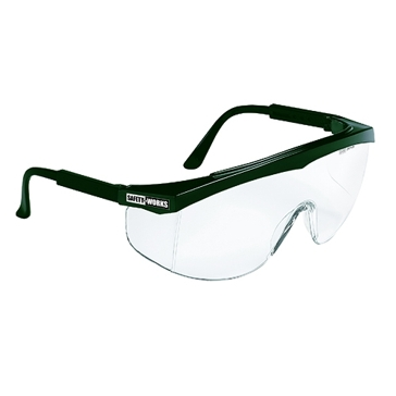 Safety Works Wrap-Around Teal Safety Glasses 817695