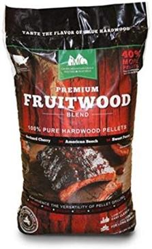 Premium Fruitwood Blend Wood Grilling Pellets - 28lbs.