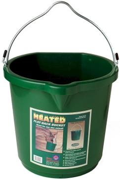 Farm Innovators 6 Gallon Heated Flat Back Bucket