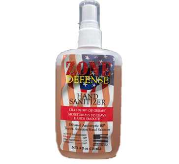 Zone Defense Hand Sanitizer 4 Oz.