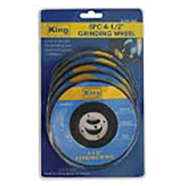 "King Tools 5 Piece 4-1/2"" Grinding Wheel"
