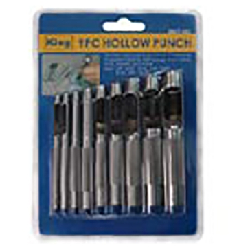 King Tools 9 Piece Hollow Point Punch Set
