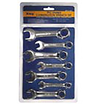 King Tools 7 Piece Stubby Wrench Set