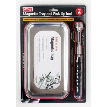 King Tools 2 Piece Magnetic Tray & Pick Up Tool