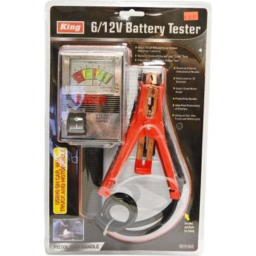 King Tools 6/12V Battery Tester