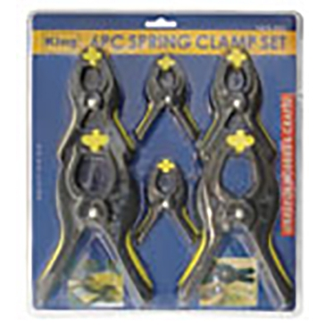 King Tools 6 Piece Spring Clamp Set
