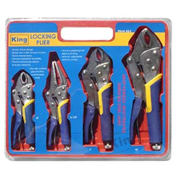 King Tools 4 Piece Locking Pliers Set
