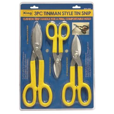 King Tools 3 Piece Tin Man Style Tin Snip