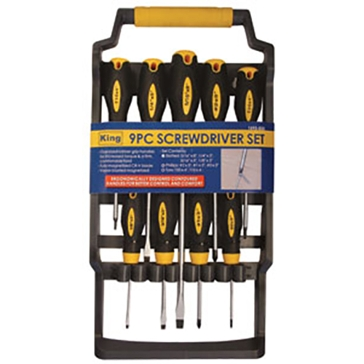 King Tools 9 Piece Magnetic Screwdriver Set