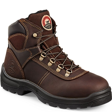 Irish Setter Mens 6-inch Steel Toe Work Boots