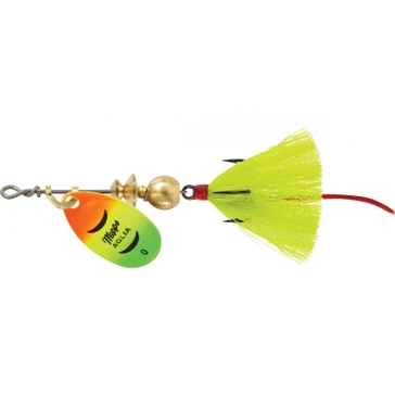 Mepps Dressed Treble Aglia Lure 1/12oz Hot Firetiger Blade w/Yellow Tail