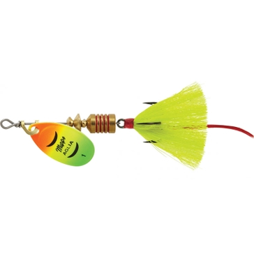 Mepps Dressed Treble Aglia Lure 1/8oz Hot Firetiger Blade w/Yellow Tail
