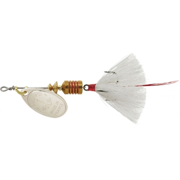 Mepps Dressed Treble Aglia Lure 1/8oz Sivler Blade w/White Tail