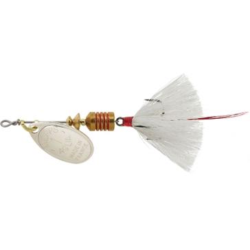 Mepps Dressed Treble Aglia Lure 1/8oz Sivler Blade w/White Tail