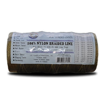 Joy Fish Gold Braided 100% Nylon #30 Twine 1/4-lb Spool