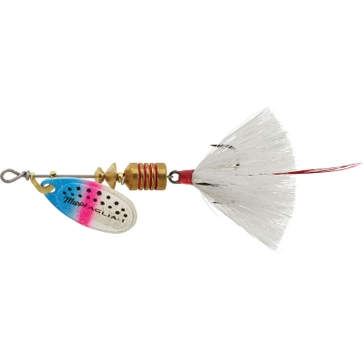 Mepps Dressed Treble Aglia Lure 1/8oz Rainbow Trout Blade w/White Tail