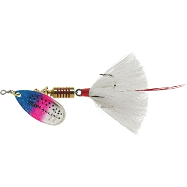 Mepps Dressed Treble Aglia Lure 1/4oz Rainbow Trout Blade w/White Tail