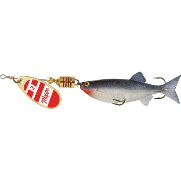 Mepps Comet Mino Lure 1/4oz Gold/Red/White Blade w/Shad Mino
