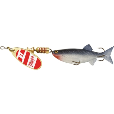 Mepps Comet Mino Lure 5/16oz Gold/Red/White Blade w/Shad Mino
