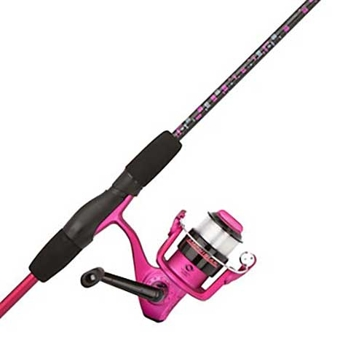 "Shakespeare Amphibian Spinning 5' 6"" Medium Youth Rod/Reel Combo Pink"