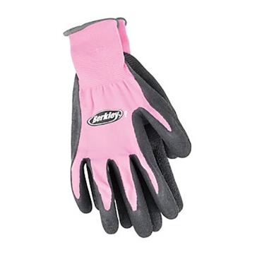 Berkley Coated Grip Fishing Gloves Pink