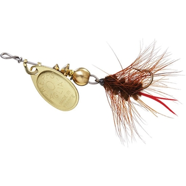 Mepps Aglia Wooly Worm Lure 1/12oz Gold Blade w/Brown Tail