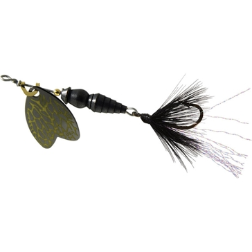 Mepps Dressed Thunder Bug Lure 1/12oz Black Blade w/Stone Fly Body