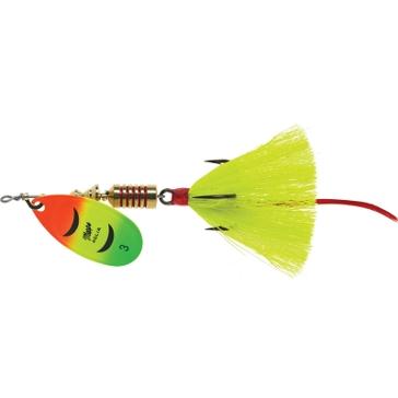 Mepps Dressed Anglia Treble Lure 1/4oz Firetiger Blade w/Yellow Tail