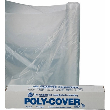 Warp's Poly 4mil 10ft x 25ft Clear Plastic Sheeting