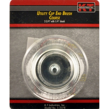 K-T Industries 2-3/4 Coarse End Cup Brush 5-3378