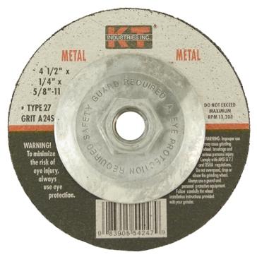 K-T Industries 4-1/2 X 1/4 X 5/8-11 Metal Grinding Wheel 5-4247