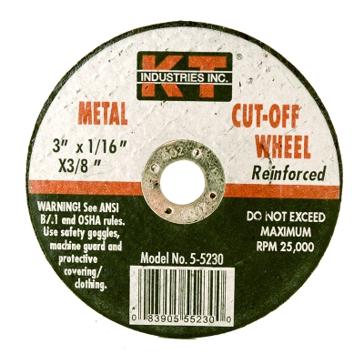 K-T Industries 3 X 1/16 X 3/8 Cutting Wheel 5-5230