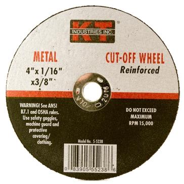 K-T Industries 4 X 1/16 X 3/8 Cutting Wheel 5-5238