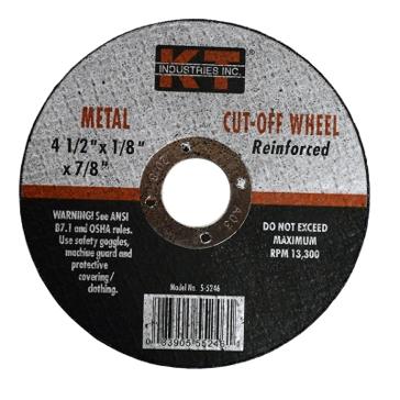 K-T Industries 4-1/2 X 1/8 X 7/8 Metal Grinding Wheel 5-4246