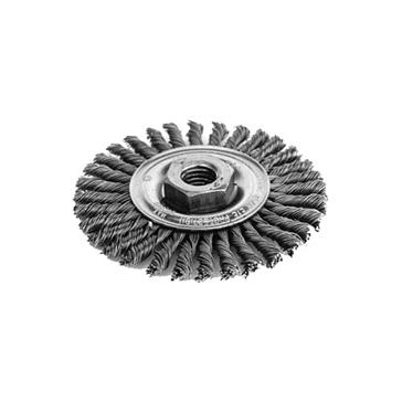"K-T Industries 4"" Knot Wheel Narrow 5/8-11 5-3345"