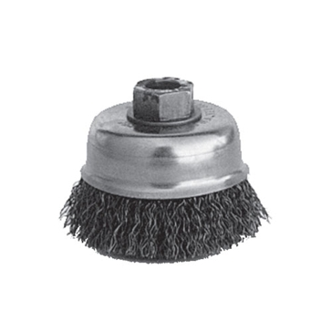 "K-T Industries 3"" Crimped Cup Brush 5/8-11 5-3435"