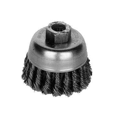 K-T Industries 4 X 5/8-11  Double Row Knot Cup Brush 5-3246