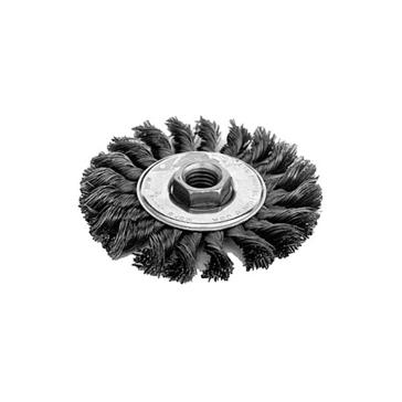 "K-T Industries 4"" Medium Knot Wheel Brush 5-3350"