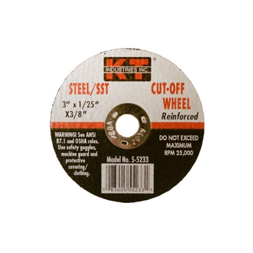 K-T Industries 3 X .040 X 3/8 Cutting Wheel 5-5233