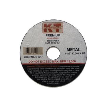 K-T Industries 4-1/2 x 1/8 x 7/8 Cutting Wheel 5-5246