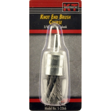 "K-T Industries 1"" Coarse Knot End Brush 5-3367"