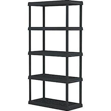 Creative Plastic 5 Tier Shelves CPC5TBLK1836