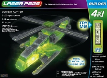 Laser Pegs Combat Copter Kit
