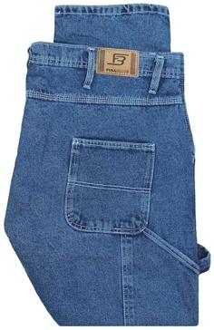 Full Blue Loose Fit Carpenter Jeans