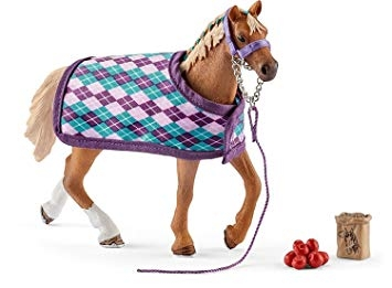Schleich Thoroughbred with Blanket 42360