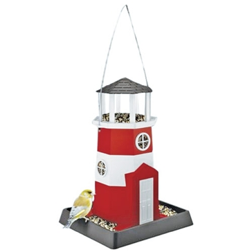 North States Large Red/White Lighthouse Birdfeeder