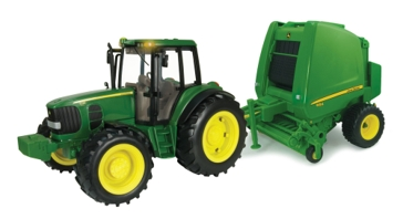 Ertl 1:16 Big Farm John Deere Tractor and Baler 46180
