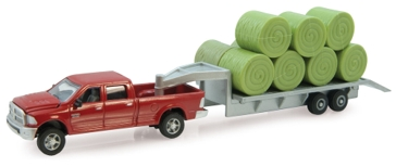 Ertl 1:64 2011 Ram Pickup With Gooseneck Flatbed Trailer 14855