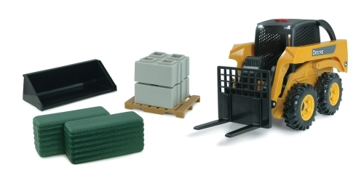 Ertl 1:16 Big Farm John Deere Skidsteer Set