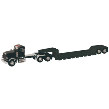 Tomy Big Farm Peterbilt Model 367 w/ Lowboy Trailer 46617